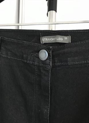 Черные штаны, черные брюки, черные джинсы, straight leg 18 bonmarche.4 фото
