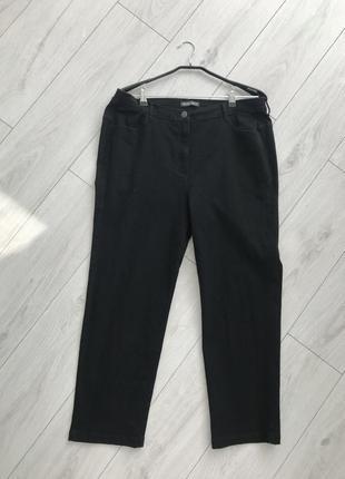 Черные штаны, черные брюки, черные джинсы, straight leg 18 bonmarche.6 фото