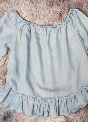 Рубашка джинсовая рубашка голубая легкая блузка only рубашка с рукавом рубашка с воланом