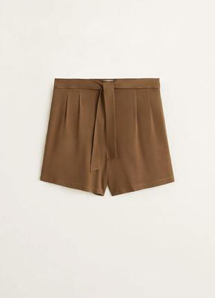 Шорти легкі, коричневі трендові. шорты с завышенной талией коричневые.