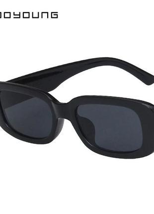 Очки окуляри сонцезахисні солецезащитные черные квадратные прямоугольные пластиковые большие