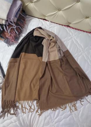 Стильный теплый палантин-шарф1 фото