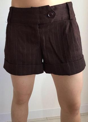 Шорты, шорти, коричневые шорты, полосатые шорты, короткие шорты стильные.