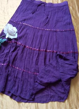 Темно-фіолетова спідниця 48-50р1 фото