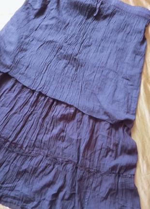 Темно-фіолетова спідниця 48-50р4 фото