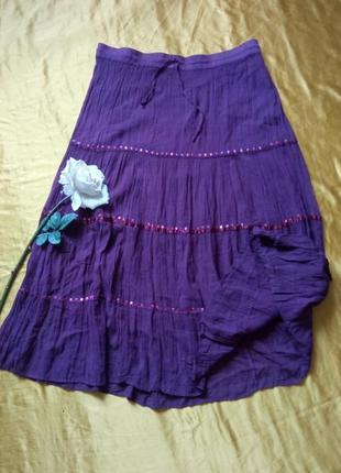 Темно-фіолетова спідниця 48-50р2 фото