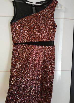 Платье футляр в мелкие пайетки sodamix( xs,s)