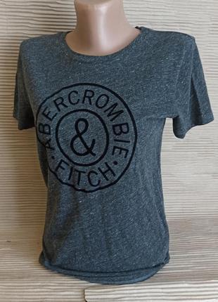 Уудлиненная футболка серая меланж xs s короткий рукав  подовжена