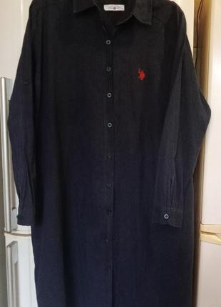 Котоновое платье-рубашка u.s.polo assn  р.хl америка.