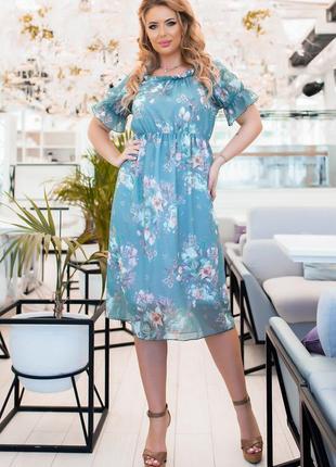 Шифоновое платье2 фото