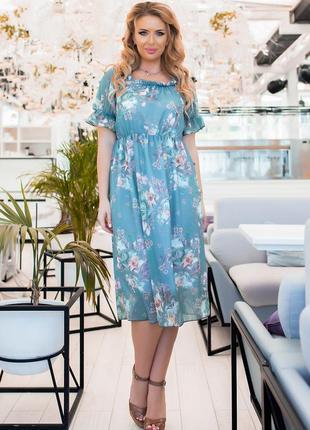 Шифоновое платье1 фото
