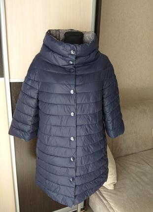 Пальто , куртка стеганая в стиле chanel .