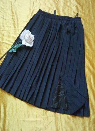 Чорна спідниця плісе 40-42р1 фото