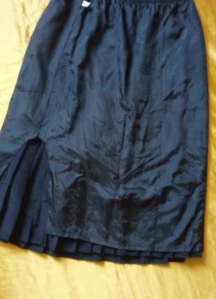 Чорна спідниця плісе 40-42р4 фото