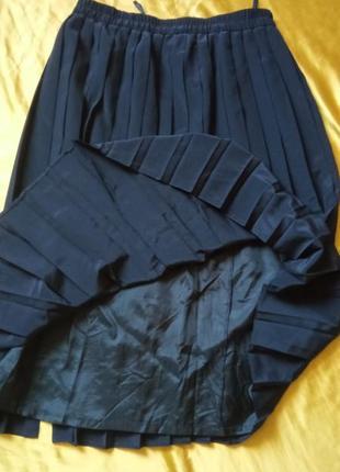 Чорна спідниця плісе 40-42р5 фото