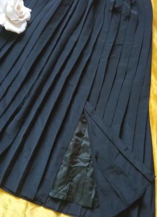 Чорна спідниця плісе 40-42р2 фото