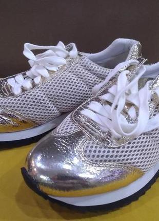 Дышащие гламурные кроссовки jane and the shoe. размер 37, 5
