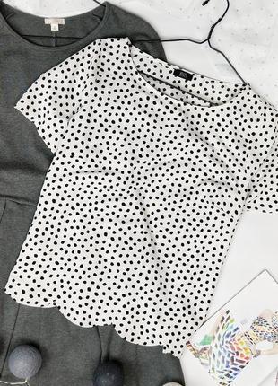 Блуза кофточка в горошек в горошок george1 фото