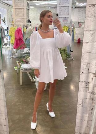 Платье женское летнее свободное оверсайз короткое мини розовое4 фото