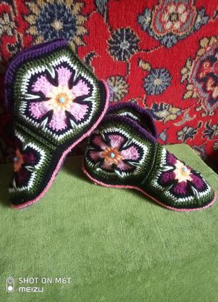 Носки на войлочной подошве