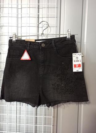 Джинсовые шорты, черные шортики kiabi