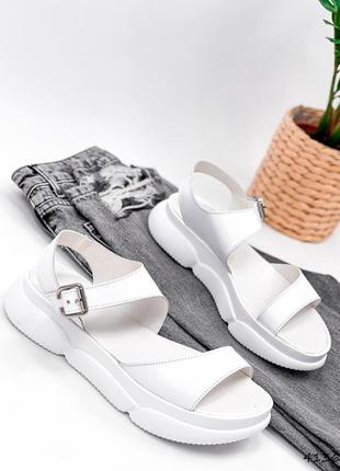 Босоножки женские sandy белые1 фото