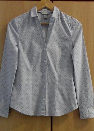 Супер брендовая рубашка блуза блузка хлопок горох