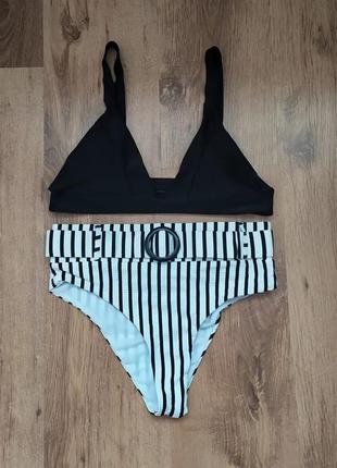 Збірний купальний комплект 🌞🌴🌊👙👒 в чорно/ білих кольорах