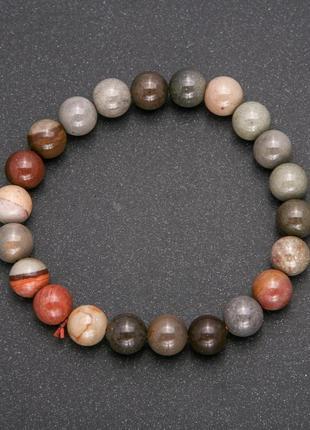 Браслет яшма натуральный камень