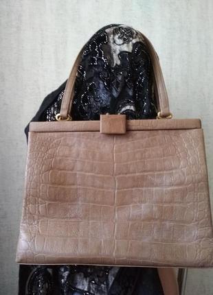 Винтажная кожаная сумка bj.goldband