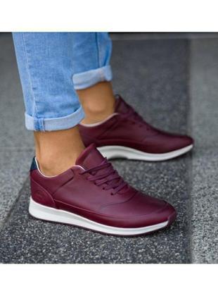 Кожаные оригинальные кроссовки