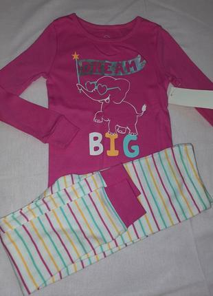 Хлопковая пижама 4т