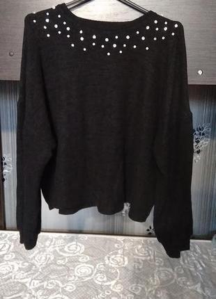 Укороченный свитер,свитшот