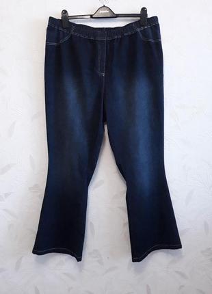 Летние джинсы из тончайшего стрейчевого материала из хлопка и эластана королевского размера: 58-60-62? от cotton traders
