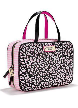 Victoria's secret оригинал косметичка кейс сумка розовая черная подарок