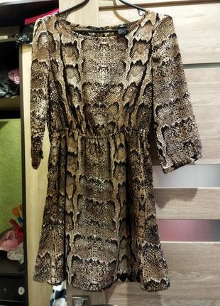 Платье, платье в змеиный принт,змеиное платье, анималистический принт