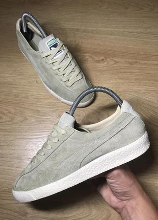 Puma te-ku suede оригинальные замшевые классические кремовые кроссовки кеды