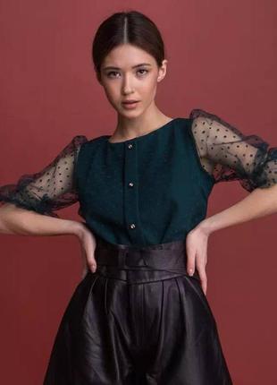 🚦разные цвета 🚦 блуза с сеткой в горошек / блуза сетка