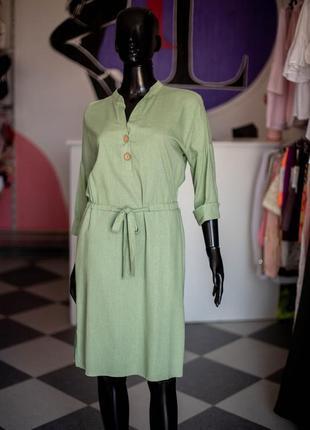 Льняная рубашка платье с пуговицами от wearme