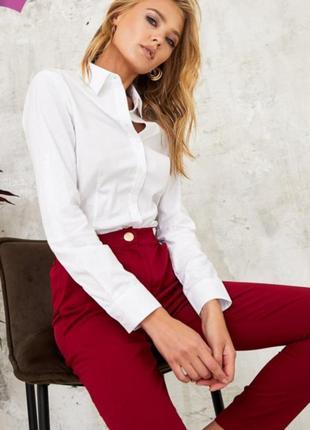 Фирменная базовая белая рубашка блуза,р. 38