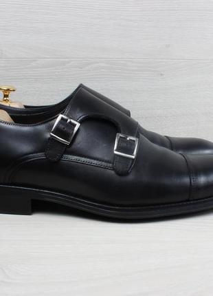 Мужские кожаные туфли монки charles tyrwhitt, размер 43 (туфли с пряжками)