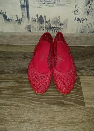 Летние кожаные туфли 40р.