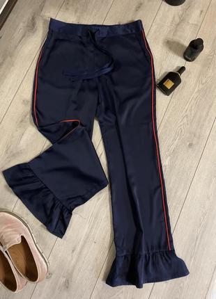 Devier дания сатиновые брюки с воланами