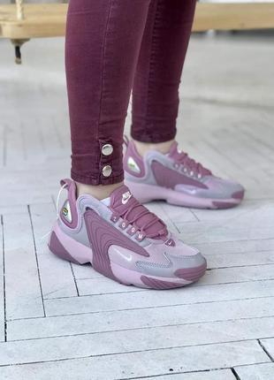 Кроссовки женские nike air zoom 🍏 найк зум розовие