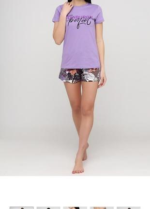 Пижама женская футболка шорты хлопок узбекистан