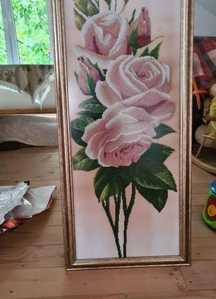 Катрина бісером рози
