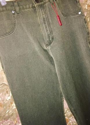 Стрейчевые джинсы клёш джинси