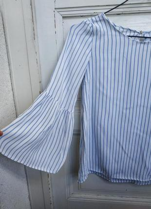 Блуза топ с з широким рукавом zara