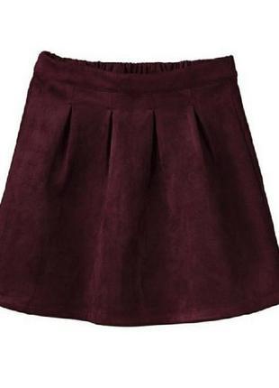 Супер юбка цвета марсала под замш 134/140 pepperts.