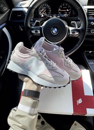 Кросівки new balance 327 pink white кроссовки